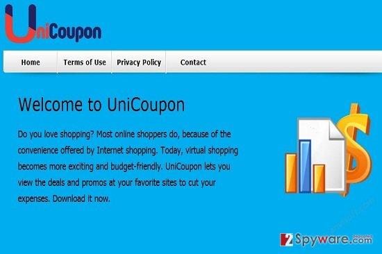 UniCoupon ads snapshot