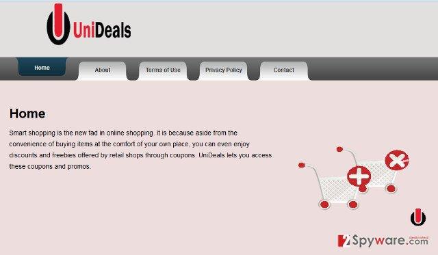 Ads by UniDeals snapshot
