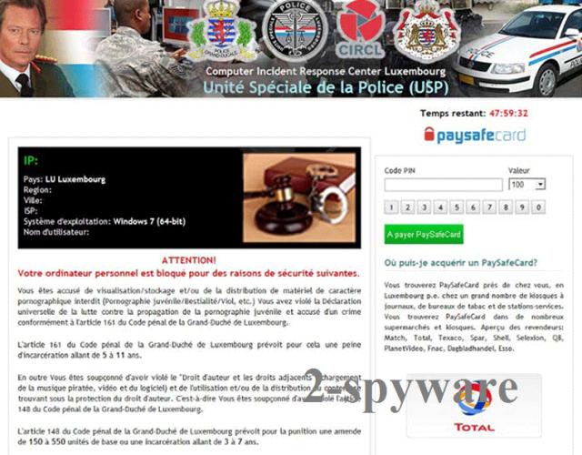 Unité Spéciale de la Police virus snapshot