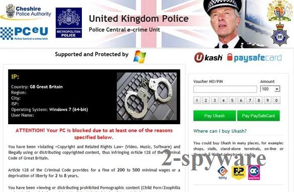United Kingdom Police virus snapshot