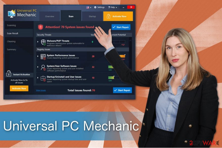 The illustration of Universal PC Mechanic program