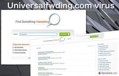 Universalfwding.com hijacker virus illustration