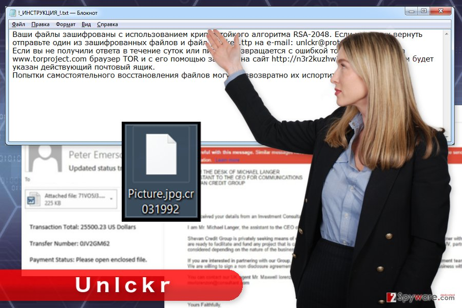 The picture of Unlckr ransomware