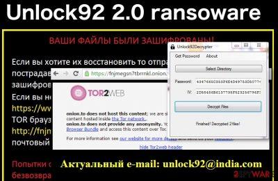 Unlock92 2.0 ransomware virus
