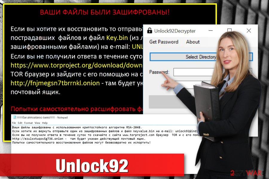 Unlock92 ransomware example