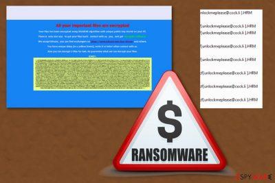 Unlockmeplease@cock.li ransomware virus