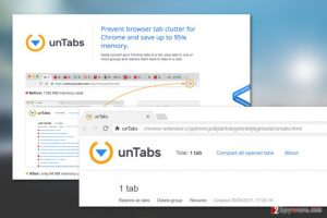 unTabs extension virus