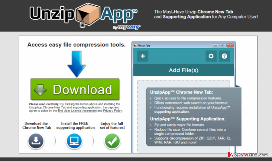 UnzipApp Toolbar