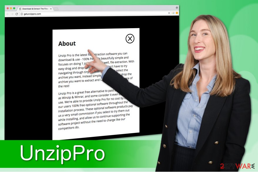 UnzipPro illustration which indicates the false promises by the developers