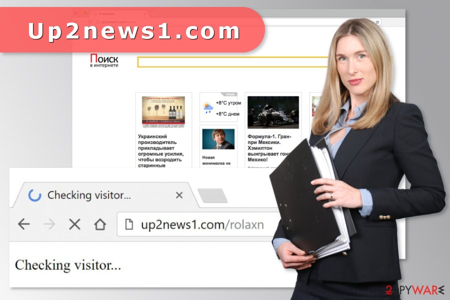 The image of Up2news1.com virus