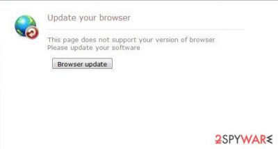 Update your browser scam