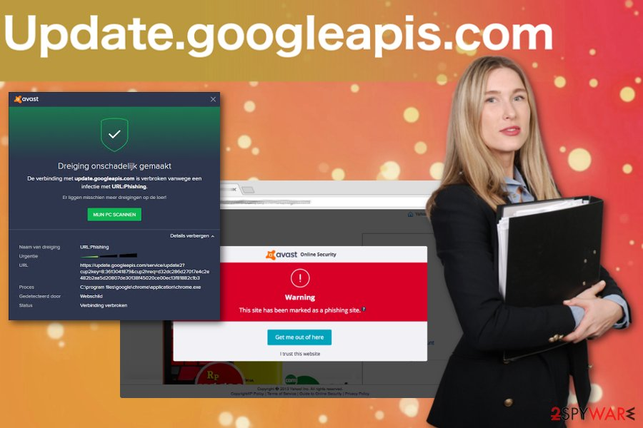 Update.googleapis.com pop-up