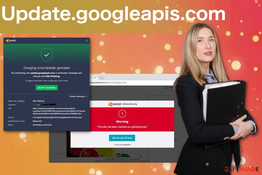 Update.googleapis.com pop-up