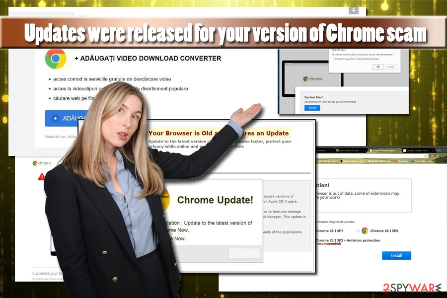 Updates were released for your version of Chrome virus