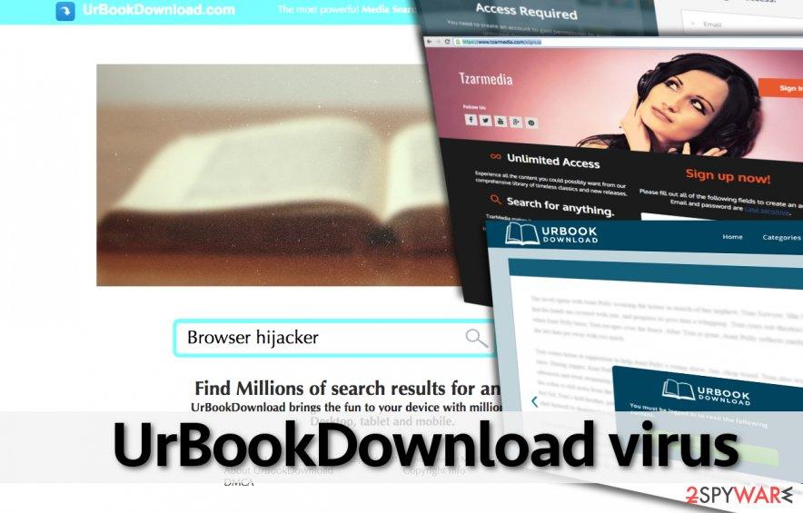 UrBookDownload virus suggests visiting shady Internet sites