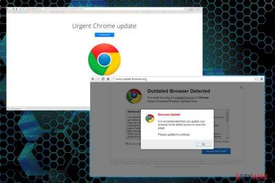 Urgent Chrome Update ads