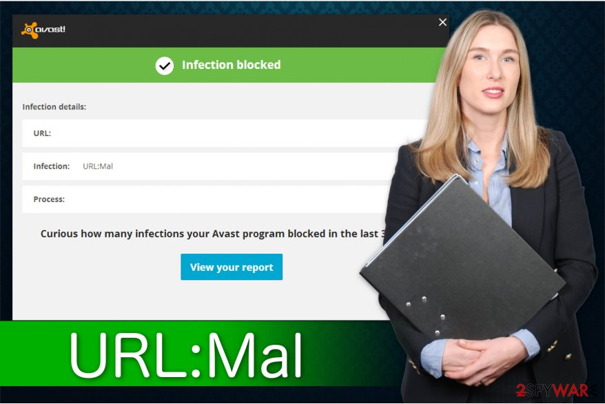 The illustration of URL:Mal adware