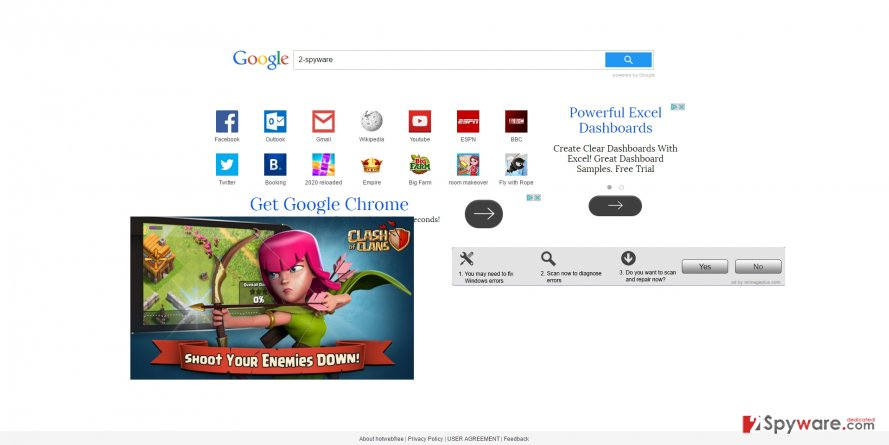 The picture displaying us.4yendex.com browser hijacker