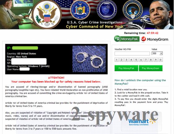 USA Cyber Crime Investigations virus snapshot