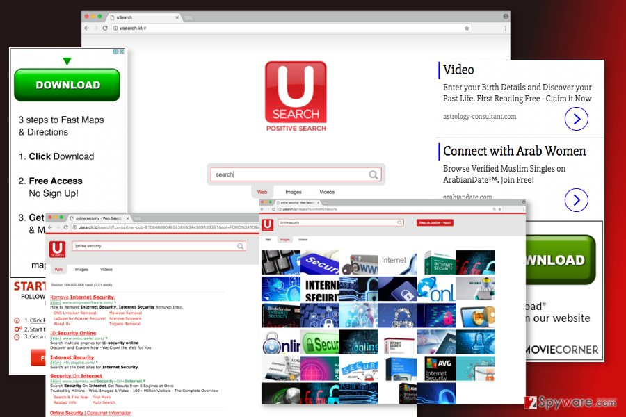 The image of Usearch.id virus