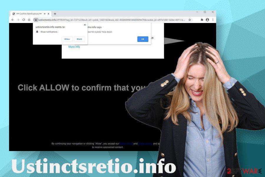Ustinctsretio.info adware