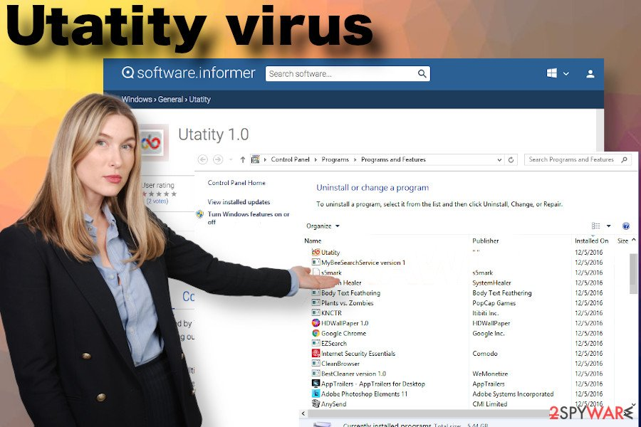 Utatity virus removal