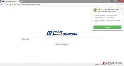 Screenshot of Utililab.mysearchguardian.com virus