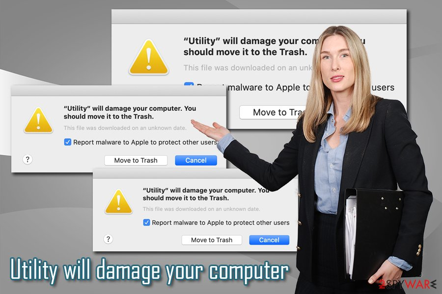 Utility will damage your computer virus