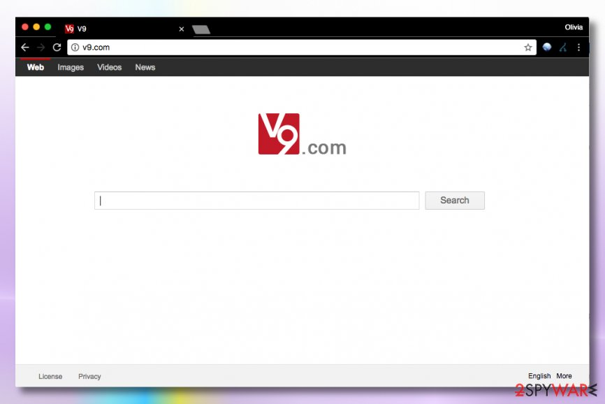 Image of v9.com virus