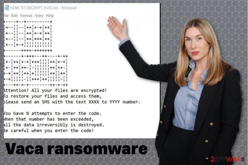 Vaca ransomware virus