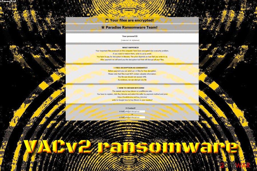 VACv2 ransomware