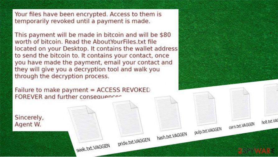 VAGGEN ransomware removal