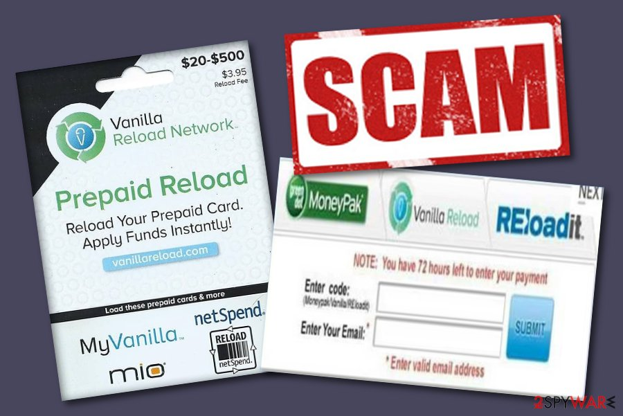 Vanilla Reload scam