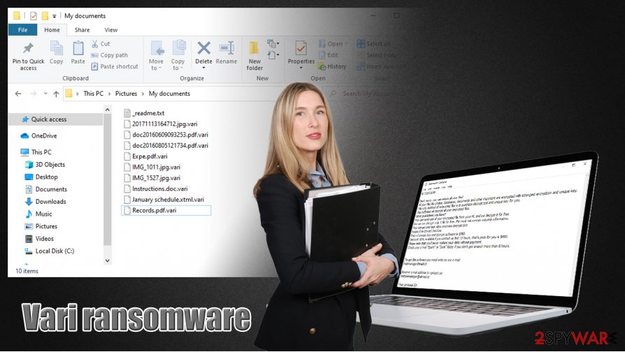Vari ransomware virus