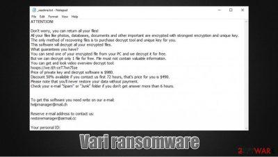 Vari ransomware