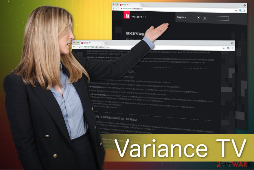 The illustration of Variance TV virus
