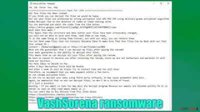 VashSorena ransomware