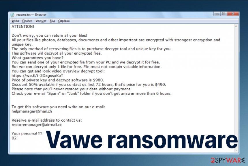 Vawe ransomware