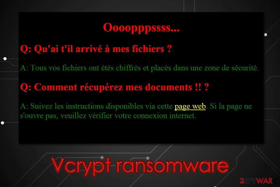 Vcrypt ransomware