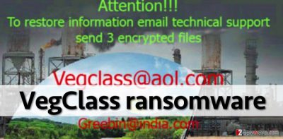 Ransom note that VegClass ransomware leaves
