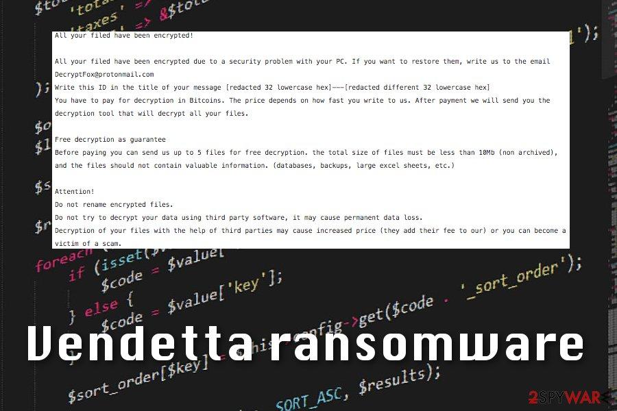 Vendetta ransomware