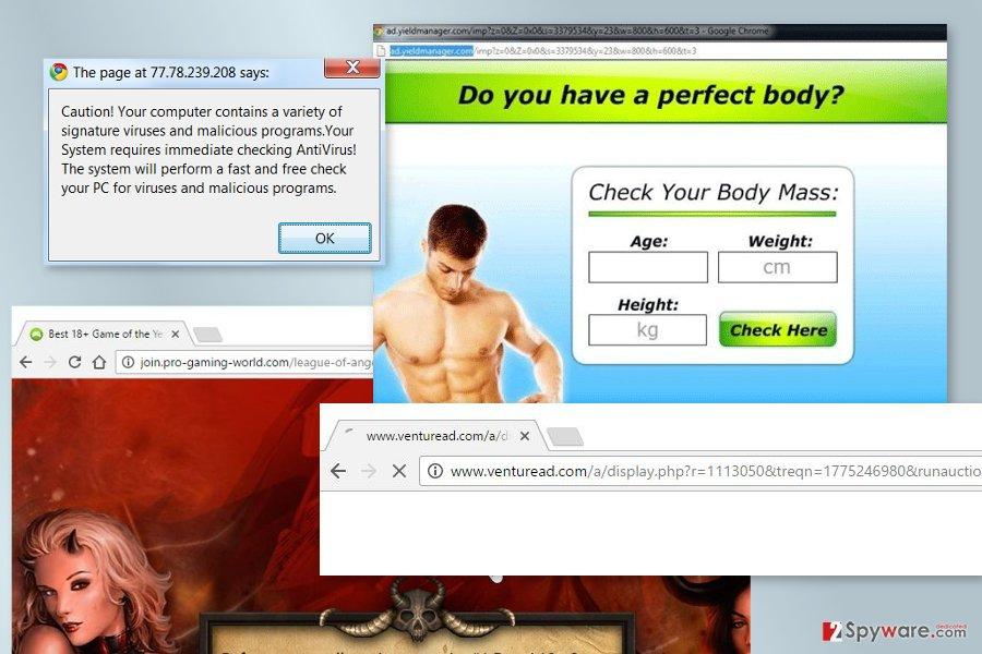 The picture of Venturead.com virus