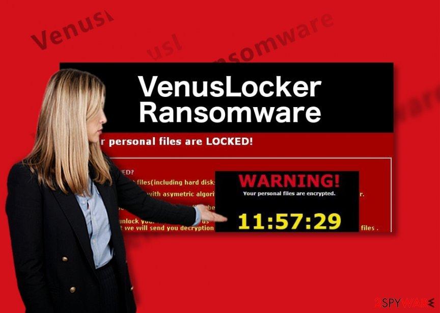 An illustration of the VenusLocker ransomware