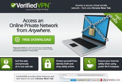 VerifiedVPN Toolbar virus