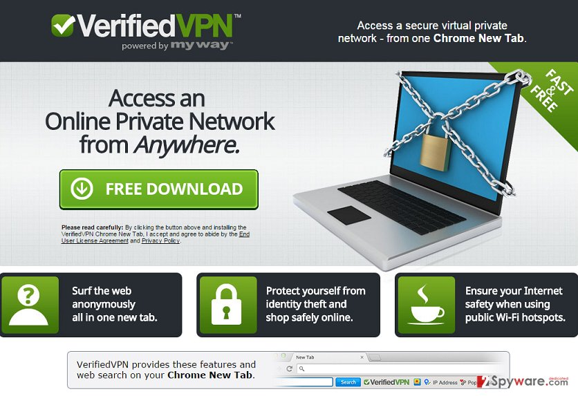 VerifiedVPN Toolbar virus