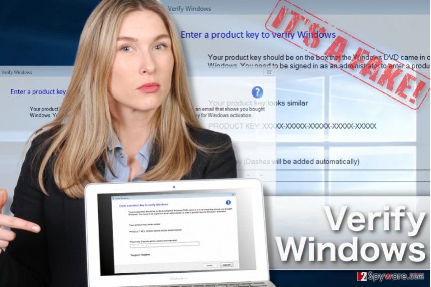 An illustration of the Verify Windows virus