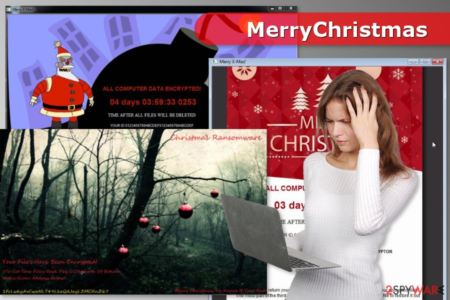 Versions of MerryChristmas ransomware