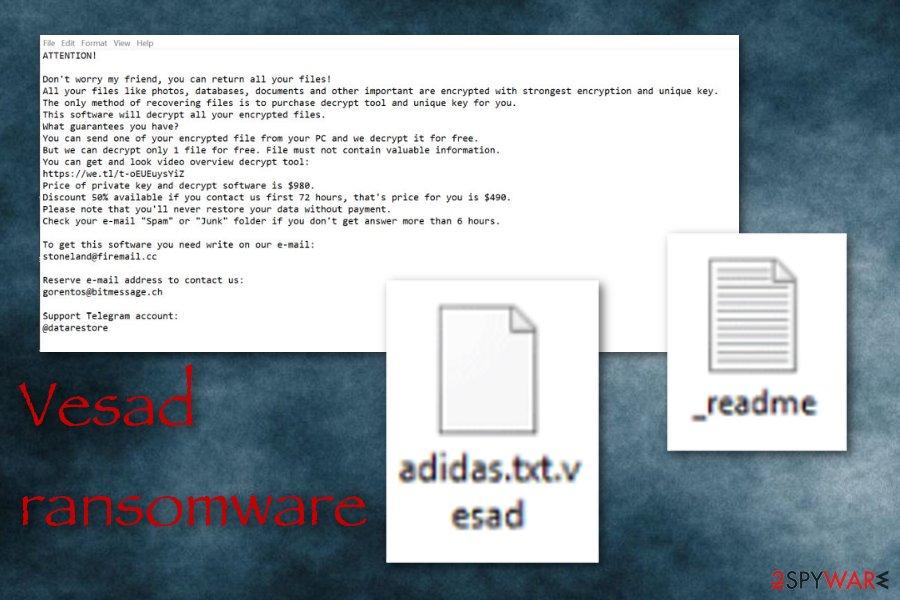 Vesad ransomware