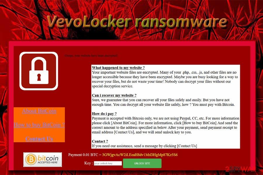VevoLocker ransomware