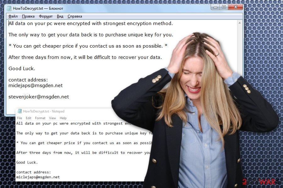 VHD ransomware virus